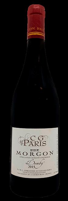 Garrafa do vinho Morgon Douby