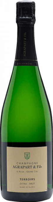 Garrada do vinho Terroirs Extra Brut Grand Cru