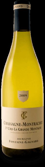 Garrada do vinho Chassagne Montrachet 1er Cru La Grande Montagne