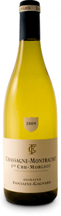 Garrada do vinho Chassagne Montrachet 1er Cru Morgeot