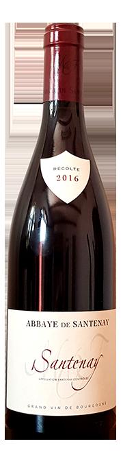 Garrafa do vinho Domaine Abbaye de Santenay