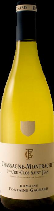 Garrada do vinho Chassagne Montrachet 1er Cru Clos St Jean