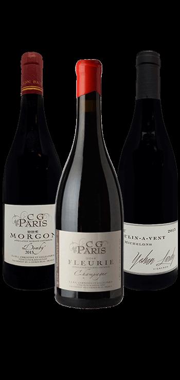 Garrafa do vinho Os Cru Beaujolais