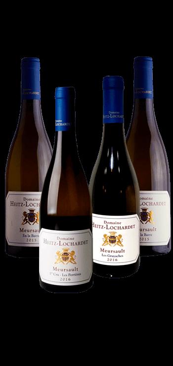 Garrafa do vinho Meursault por Heitz Lochardet