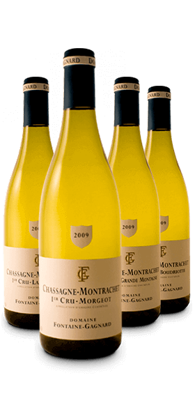 Garrafa do vinho Os 1er Crus de Chassagne Montrachet