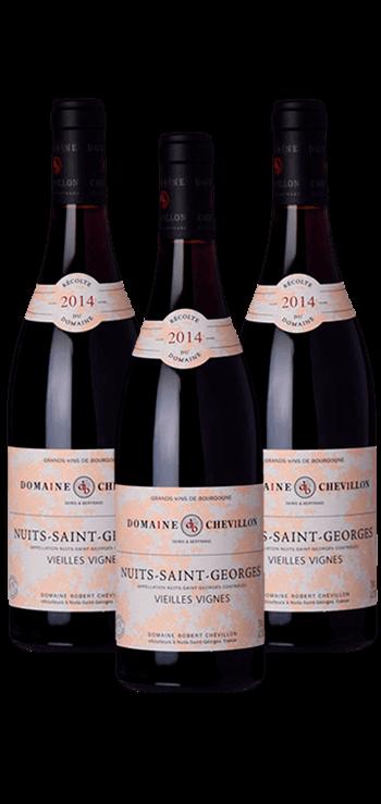 Garrafa do vinho Nuits St Georges pelos Irmãos Chevillon