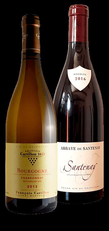 Garrafa do vinho Decouvrir La Bourgogne