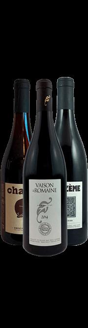 Garrada do vinho Cotes du Rhone Biodinamicos por Eric Texier