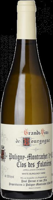 Garrada do vinho Puligny Montrachet 1er Cru Les Folatieres