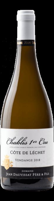Garrada do vinho Chablis 1er Cru Côte de Léchet