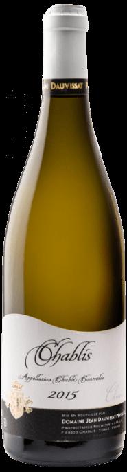 Garrada do vinho Chablis Cuvée Claire 1,5L