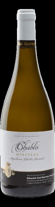 Garrada do vinho Chablis Cuvée Heritage