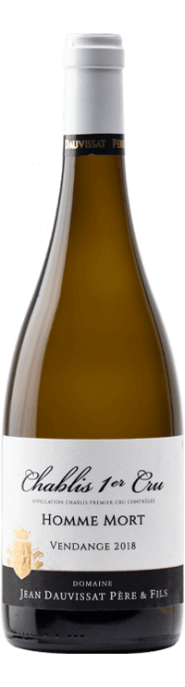 Garrada do vinho Chablis 1er Cru Homme Mort