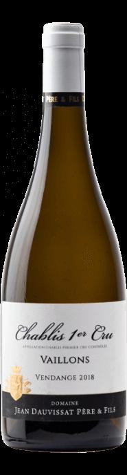 Garrada do vinho Chablis 1er Cru Vaillons